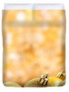 Golden Christmas  Duvet Cover