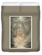 Golden Christmas Tree Duvet Cover