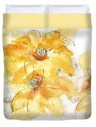 Golden Clematis 1 Duvet Cover