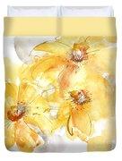 Golden Clematis 2 Duvet Cover