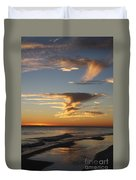Golden Clouds And Blue Sky Duvet Cover