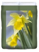 Golden Daffodils Duvet Cover