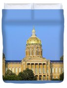 Golden Dome Of Iowa State Capital Duvet Cover
