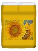 Golden Duo - Sunflowers Duvet Cover