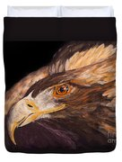 Golden Eagle Close Up Painting By Carolyn Bennett Duvet Cover