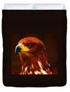 Golden Eagle Eye Fractalius Duvet Cover
