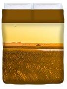 Golden End Of Day  Duvet Cover