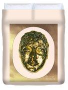 Golden Face From Degas Dancer Duvet Cover