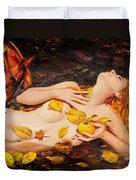 Golden Fall - The River Girl Duvet Cover