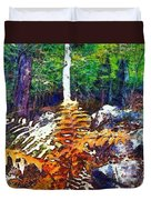 Golden Ferns Duvet Cover