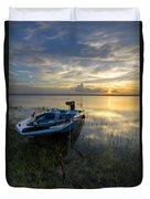 Golden Fishing Hour Duvet Cover