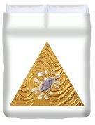 Golden Flow Creator Duvet Cover