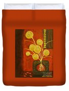 Golden Flowers Duvet Cover