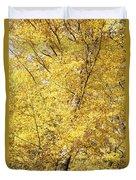 Golden Foliage Duvet Cover