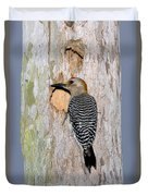 Golden-fronted Woodpecker Duvet Cover