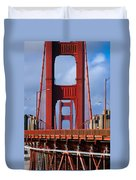 Golden Gate Bridge Duvet Cover by Adam Romanowicz
