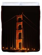 Golden Gate At Night Duvet Cover