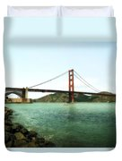 Golden Gate Bridge 2.0 Duvet Cover by Michelle Calkins