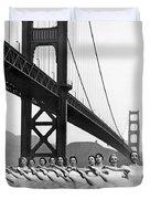 Golden Gate Bridge Ballet Duvet Cover