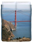 Golden Gate Bridge II Duvet Cover by Jenna Szerlag