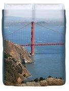 Golden Gate Bridge II Duvet Cover by Jenna Szerlag
