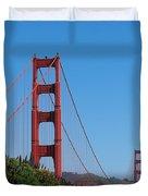 Golden Gate Bridge In Spring Duvet Cover