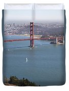 Golden Gate Bridge Duvet Cover by Jenna Szerlag