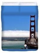Golden Gate Bridge Looking South Duvet Cover