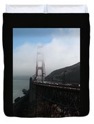 Golden Gate Bridge Pylons In A Mist Duvet Cover