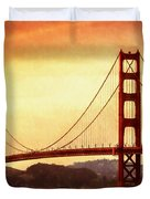 Golden Gate Bridge San Francisco California Duvet Cover