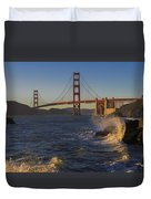 Golden Gate Bridge Sunset Study 2 Duvet Cover