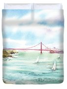 Golden Gate Bridge View From Point Bonita Duvet Cover by Irina Sztukowski