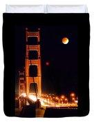 Golden Gate Night Duvet Cover