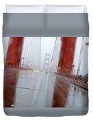 Golden Gate Rain Duvet Cover