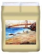 Golden Gate Stroll Duvet Cover