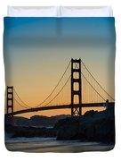 Golden Gate Sunrise Duvet Cover