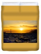 Golden Gate Sunset  Duvet Cover