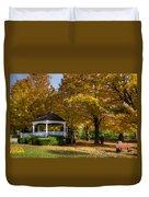 Golden Gazebo Duvet Cover