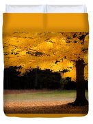 Golden Glow Of Autumn Fall Colors Duvet Cover