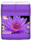 Golden Glow Of The Lavender Lotus Duvet Cover