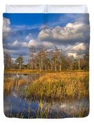 Golden Grasses Duvet Cover by Debra and Dave Vanderlaan