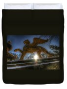 Golden Griffin Duvet Cover