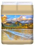 Golden Hanalei Morning Duvet Cover