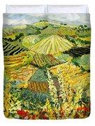 Golden Hedge Duvet Cover