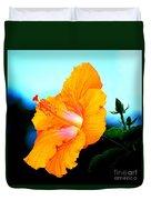 Golden Hibiscus Duvet Cover