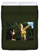Golden Horses Duvet Cover