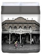 Golden Horseshoe Frontierland Disneyland Sc Duvet Cover