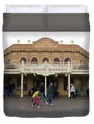 Golden Horseshoe Frontierland Disneyland Duvet Cover
