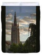 Golden Hour Church Glow Duvet Cover
