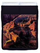 Golden Hour Mather Point Grand Canyon National Park Duvet Cover